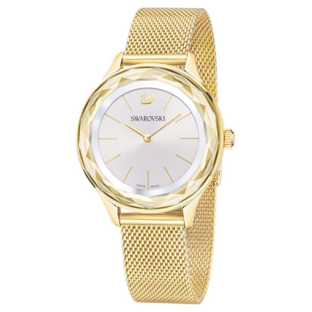 Octea Nova watch, Milanese bracelet, Gold tone, Gold-tone PVD - Swarovski, 5430417