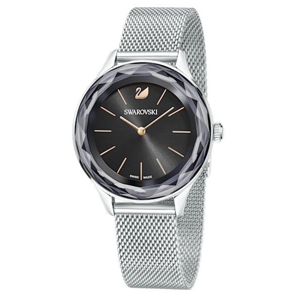 Octea Nova watch, Milanese strap, Black, Stainless steel - Swarovski, 5430420