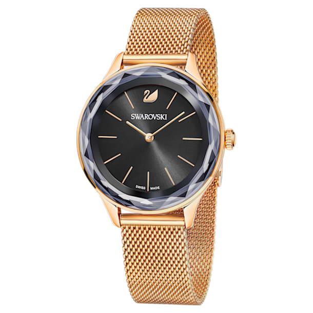 Octea Nova watch, Milanese strap, Black, Rose-gold tone PVD - Swarovski, 5430424