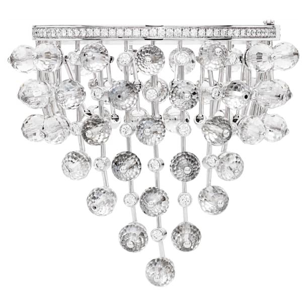 Concentric Cuff, Swarovski Crystal & Swarovski Created Diamonds, 18K White Gold - Swarovski, 5430506