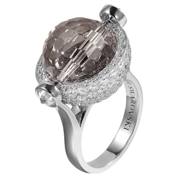 Concentric Ring, Swarovski Crystal & Swarovski Created Diamonds,18K White Gold, Size 52 - Swarovski, 5430512