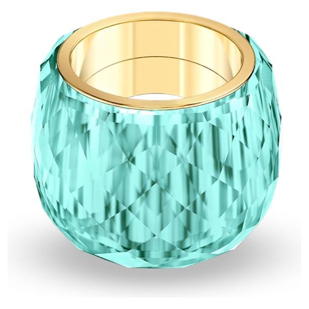 Bague Swarovski Nirvana, aiguemarine turquoise, PVD doré - Swarovski, 5432206
