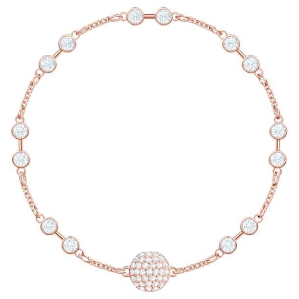 Bransoletka bazowa z kolekcji Swarovski Remix, biała, w odcieniu różowego złota - Swarovski, 5435651