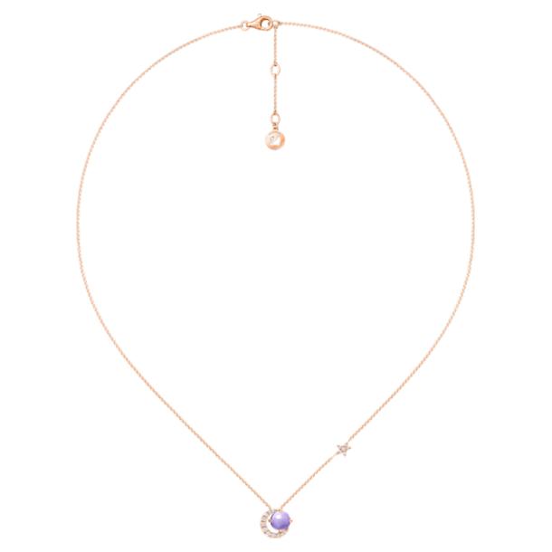 许愿星辰18K玫瑰金紫晶钻石项链 - Swarovski, 5436223