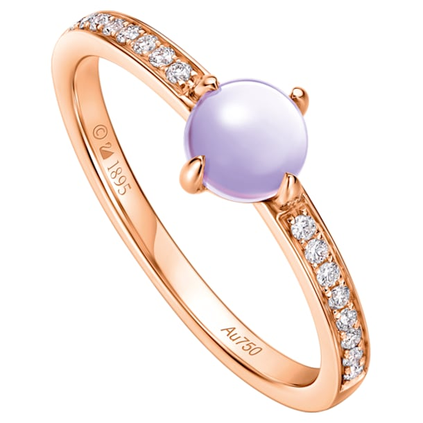 18K RG Dia Wishful Moon Ring E (Ame) - Swarovski, 5436224