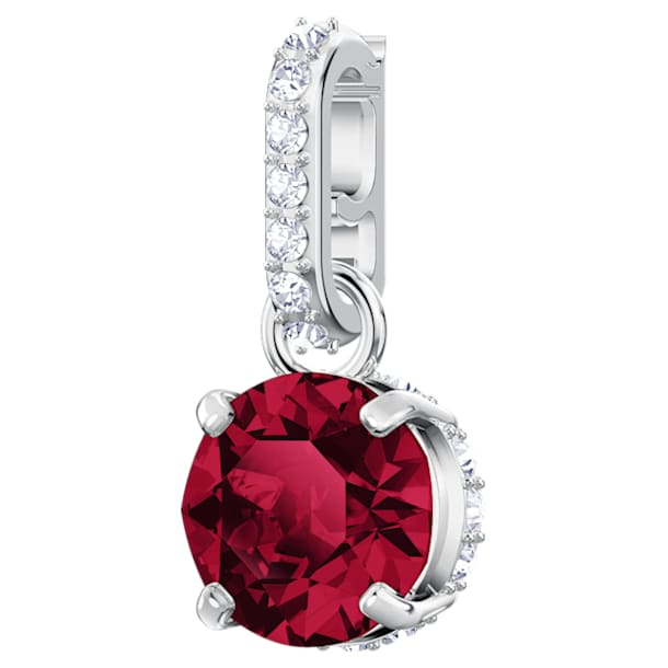 Swarovski Remix Collection Charm, July, Dark Red, Rhodium plated - Swarovski, 5437318
