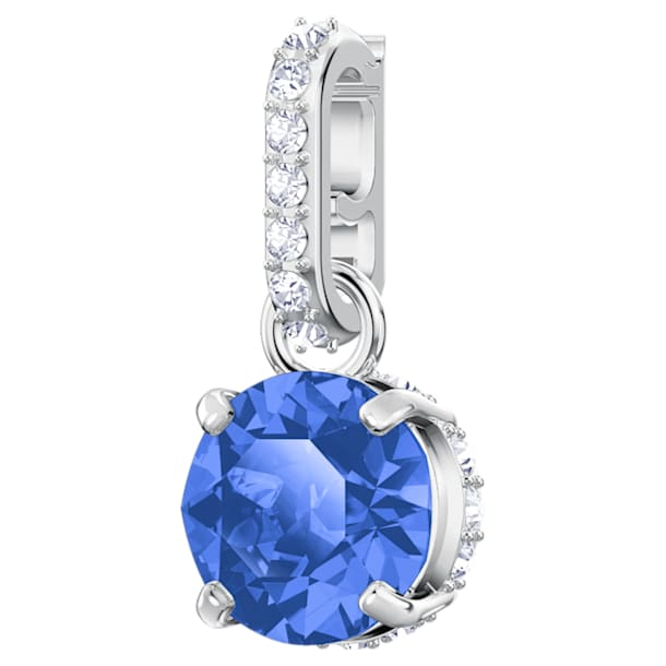 Swarovski Remix Collection Charm, September, Dark Blue, Rhodium plated - Swarovski, 5437319