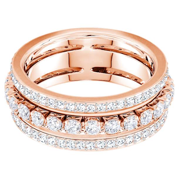 Further Ring, White, Rose-gold tone plated - Swarovski, 5441200