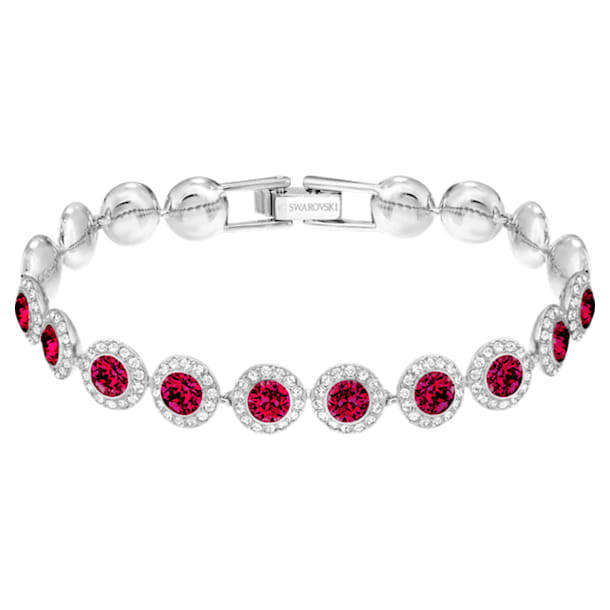 스와로브스키 팔찌 Swarovski Angelic Bracelet, Red, Rhodium plated