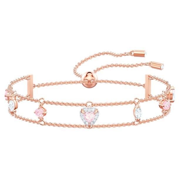One Bracelet, Multi-colored, Rose-gold tone plated - Swarovski, 5446304