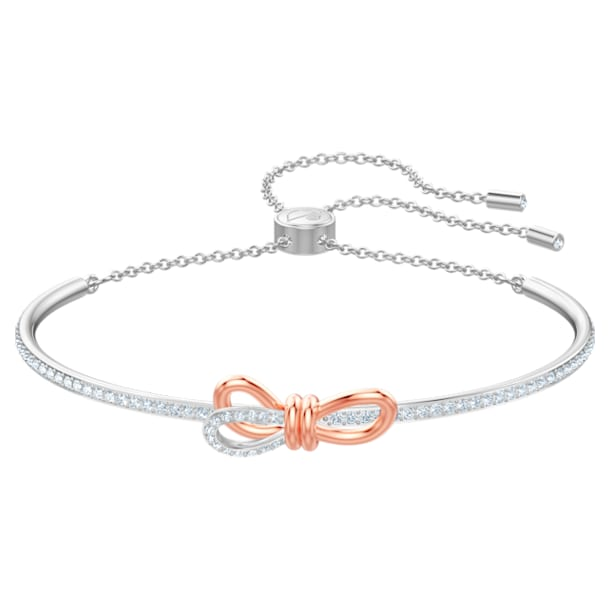 Bracciale rigido Lifelong Bow, bianco, Mix di placcature - Swarovski, 5447079