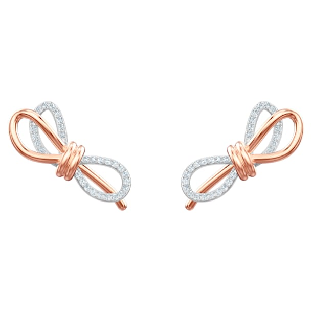 Boucles d'oreilles Lifelong Bow, blanc, Finition mix de métal - Swarovski, 5447089