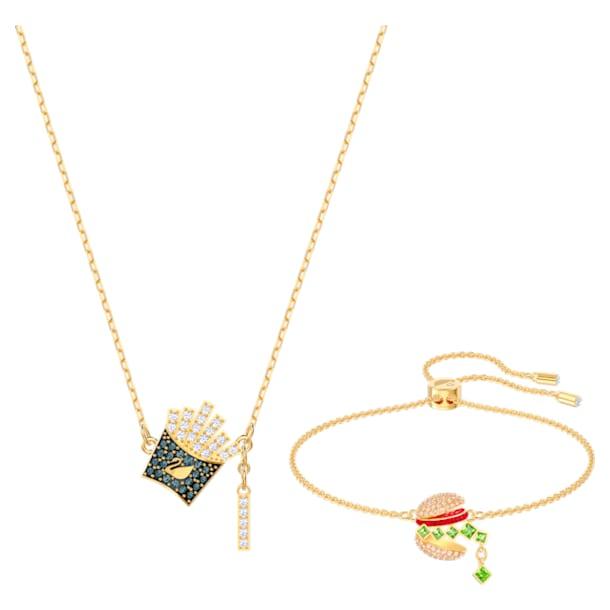 Nicest Set, Mehrfarbig, Goldlegierungsschicht - Swarovski, 5448916