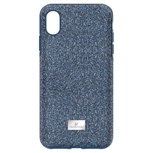 Coque rigide pour smartphone avec cadre amortisseur High, iPhone® XS Max, bleu - Swarovski, 5449136