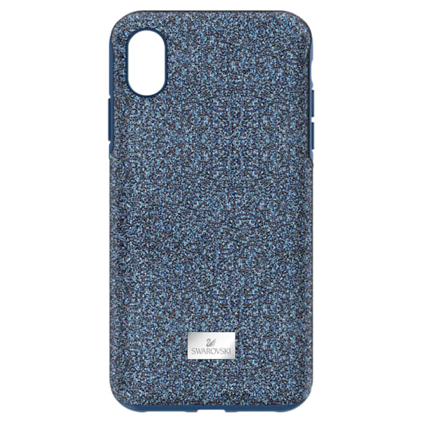High smartphone case, iPhone® XS Max, Blue - Swarovski, 5449136