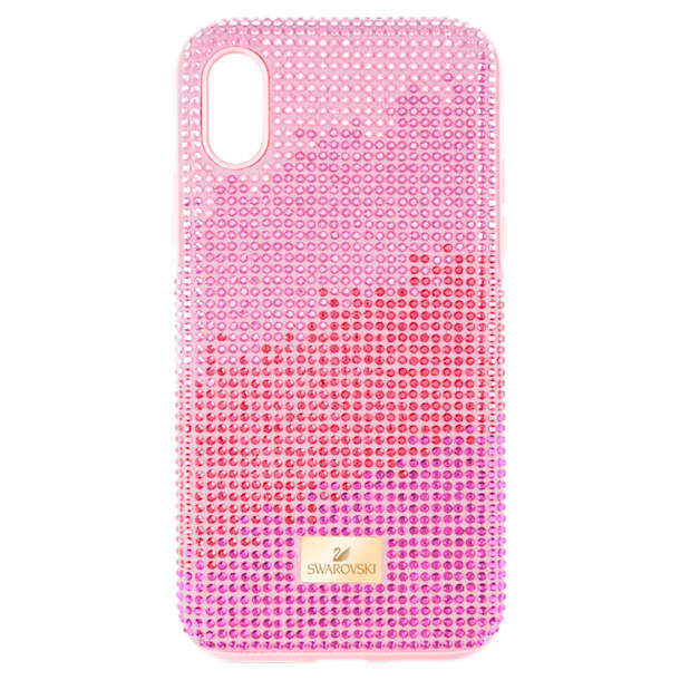 Etui na smartfona High Love z ramką chroniącą przed uderzeniem, iPhone® X/XS, różowe - Swarovski, 5449510