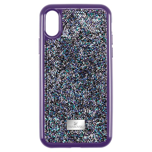 Etui na smartfona Glam Rock z ramką chroniącą przed uderzeniem, iPhone® X/XS, fioletowe - Swarovski, 5449517