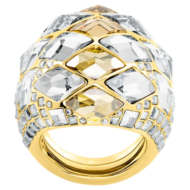 Notorious Cocktail Ring, Multi-colored, Gold-tone plated - Swarovski, 5449522