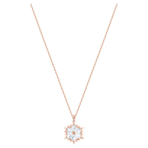Magic Pendant, White, Rose-gold tone plated - Swarovski, 5450919