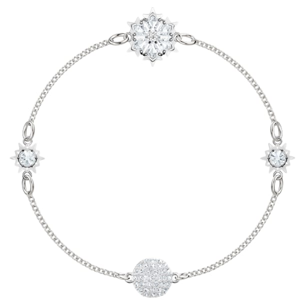 Swarovski Remix Collection Strand Snowflake, bianco, Placcatura rodio - Swarovski, 5451035