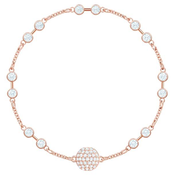 Μπρασελέ carrier από τη Swarovski Remix Collection, λευκό, επιχρυσωμένο σε χρυσή ροζ απόχρωση - Swarovski, 5451037
