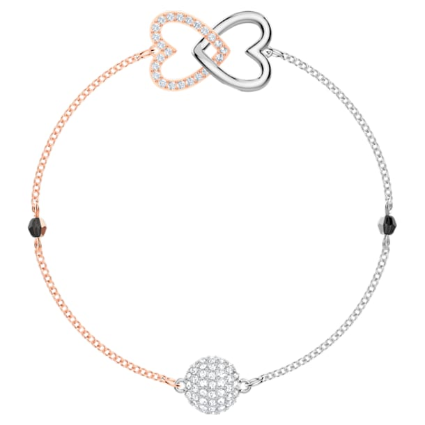 Swarovski Remix Collection Forever Strand, blanc, Finition mix de métal - Swarovski, 5451098