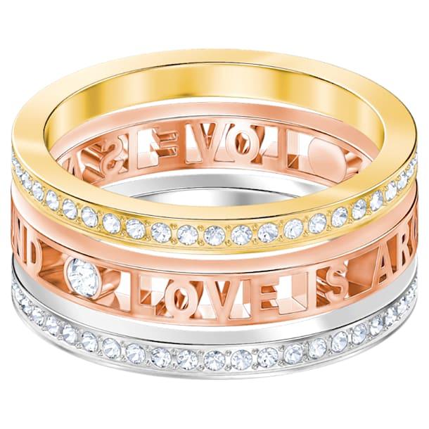 Admiration Ring, White, Mixed metal finish, Size 58 - Swarovski, 5451432