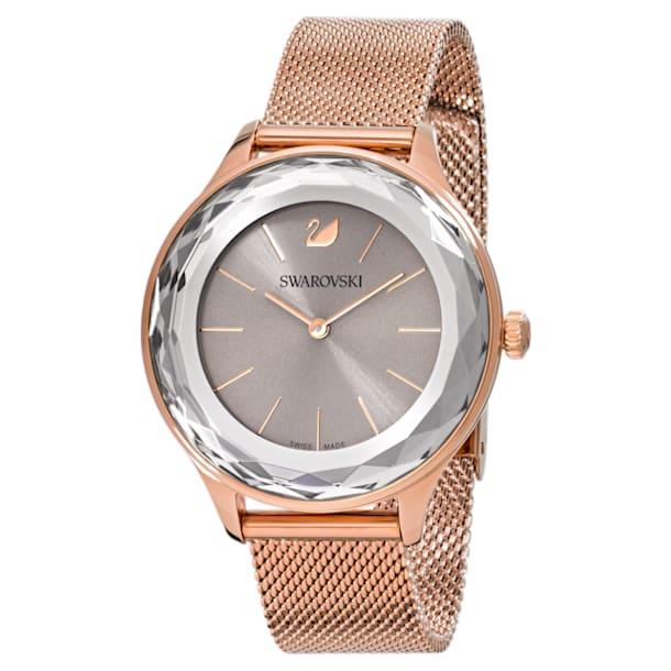 Octea Nova Watch, Milanese bracelet, Grey, Rose-gold tone PVD - Swarovski, 5451634