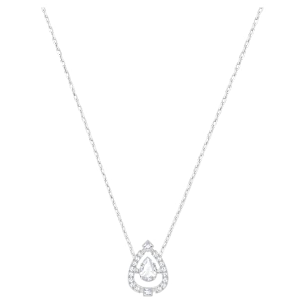 Swarovski Sparkling Dance Pear Necklace, White, Rhodium plated - Swarovski, 5451992