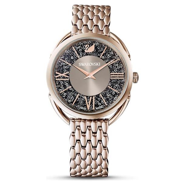 Reloj Crystalline Glam, Brazalete de metal, gris, PVD en tono Oro Champán - Swarovski, 5452462