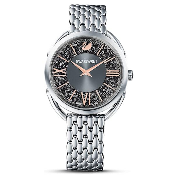 Relógio Crystalline Glam, pulseira em metal, cinzento, aço inoxidável - Swarovski, 5452468
