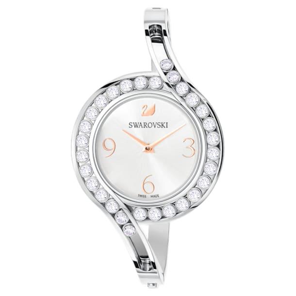 Lovely Crystals bangle watch, Metal bracelet, White, Stainless steel - Swarovski, 5452492