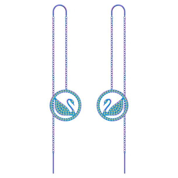 Pendientes Pop Swan, violeta, Revestimiento de PVD lila - Swarovski, 5452619