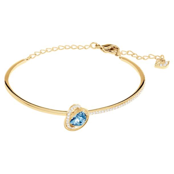 Outstanding Bangle, Aqua, Gold-tone plated - Swarovski, 5455032