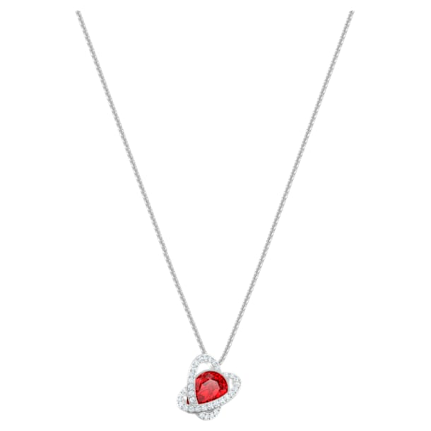 Outstanding Pendant, Red, Rhodium plated - Swarovski, 5455036