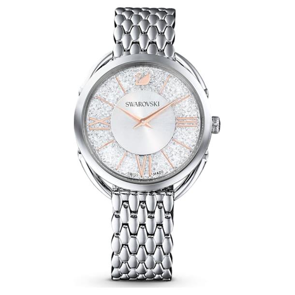 Ρολόι Crystalline Glam, μεταλλικό μπρασελέ, λευκό, ανοξείδωτο ατσάλι - Swarovski, 5455108