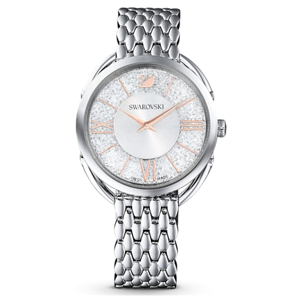 Crystalline Glam Uhr, Metallarmband, Silberfarben, Edelstahl - Swarovski, 5455108