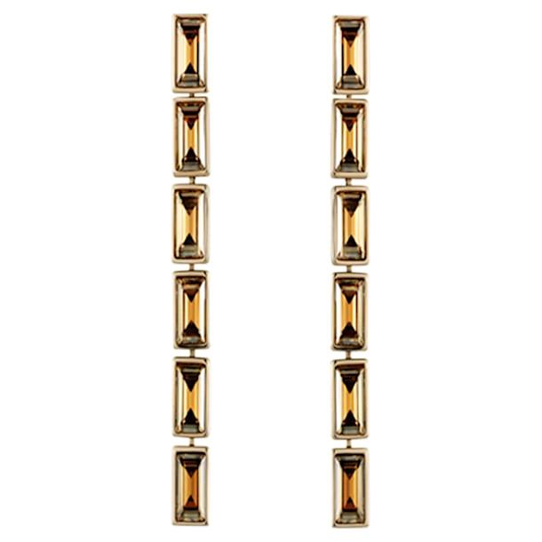 Boucles d'oreilles drop Fluid, marron, Métal doré - Swarovski, 5455632