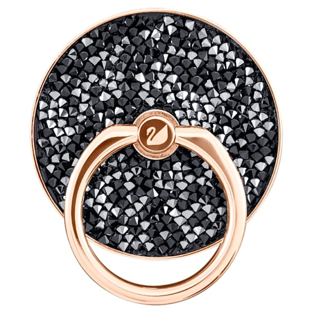Glam Rock ring sticker, Zwart, Roségoudkleurige toplaag - Swarovski, 5457469