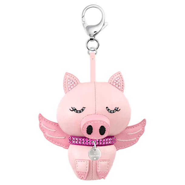 Bu Bu Bag Charm, Pink, Stainless steel - Swarovski, 5457470