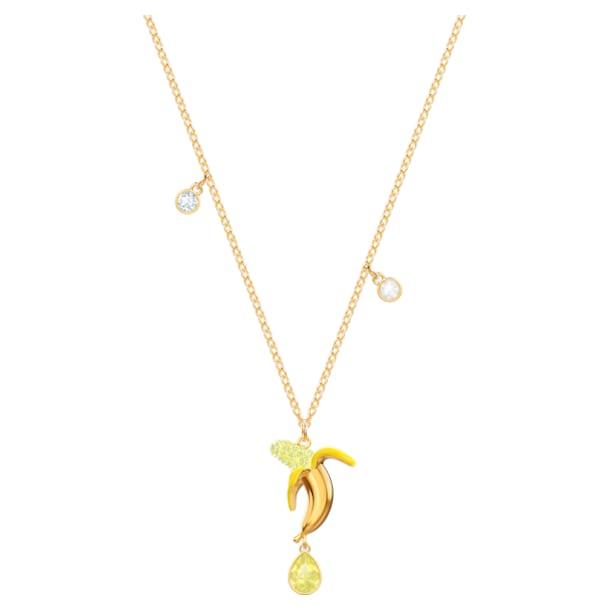 No Regrets Banana Pendant, Multi-colored, Gold-tone plated - Swarovski, 5457504