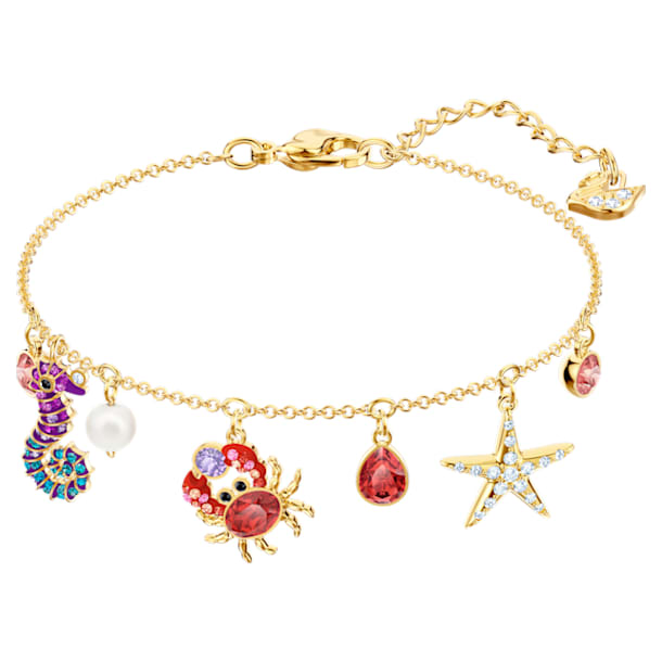 Ocean Armband, mehrfarbig, vergoldet - Swarovski, 5457760