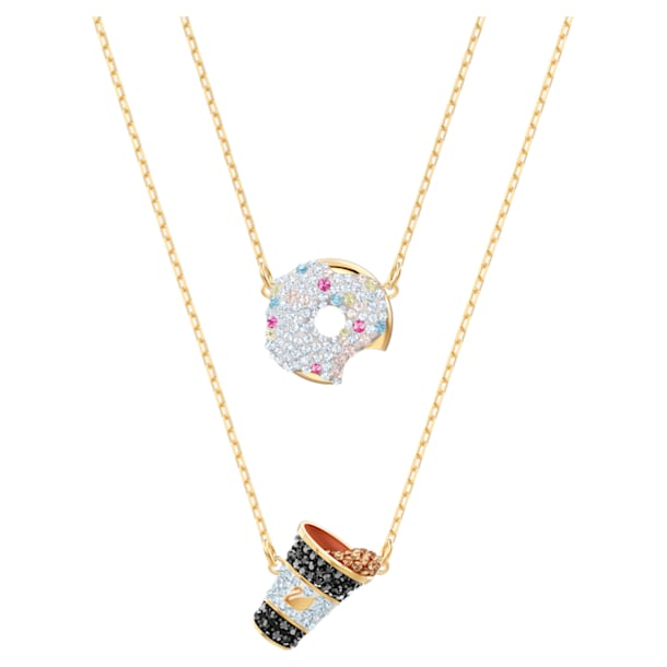 Nicest Set, Multi-colored, Gold-tone plated - Swarovski, 5459142