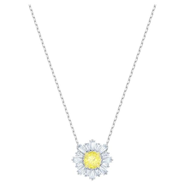 Colgante Sunshine, amarillo, Baño de Rodio - Swarovski, 5459588