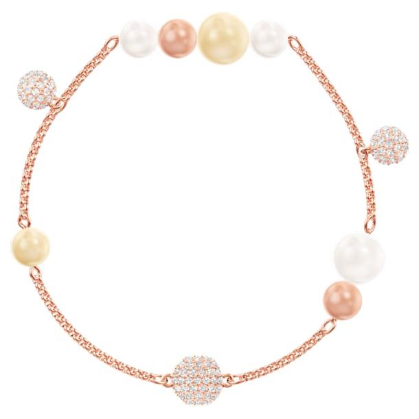 Řetízek s perlami z kolekce Swarovski Remix, Vícebarevný, Pozlacený růžovým zlatem - Swarovski, 5464297