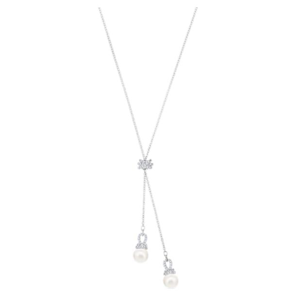 Originally Y形项链, 白色, 镀铑 - Swarovski, 5467313