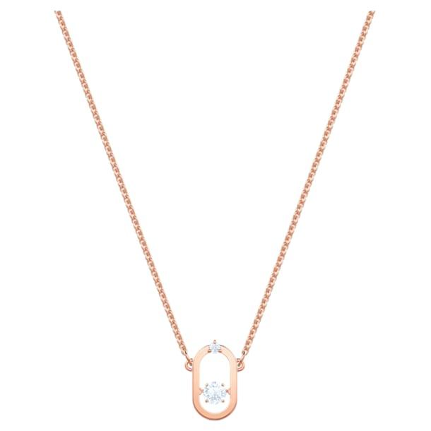Swarovski Sparkling Dance Oval ネックレス, ホワイト, ローズゴールドトーン・コーティング - Swarovski, 5468084