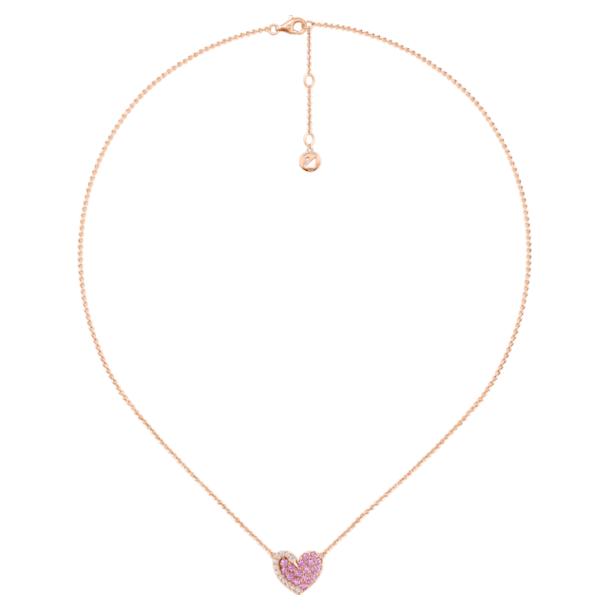 如影随心18K玫瑰金粉红蓝宝石钻石项链 - Swarovski, 5468486