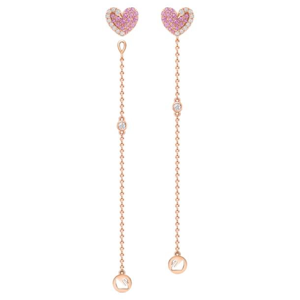 如影随心18K玫瑰金粉红蓝宝石钻石耳环 - Swarovski, 5468487