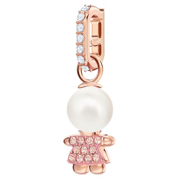 Swarovski Remix Collection Girl Charm, rosa, Baño en tono Oro Rosa - Swarovski, 5468570